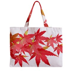 Leaves Maple Branch Autumn Fall Medium Tote Bag