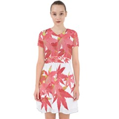 Leaves Maple Branch Autumn Fall Adorable In Chiffon Dress