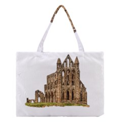 Ruin Monastery Abbey Gothic Whitby Medium Tote Bag by Sapixe