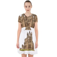 Ruin Monastery Abbey Gothic Whitby Adorable In Chiffon Dress