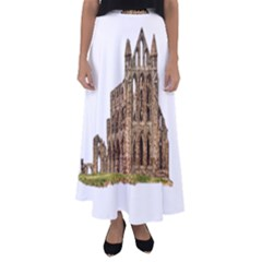 Ruin Monastery Abbey Gothic Whitby Flared Maxi Skirt