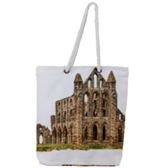 Ruin Monastery Abbey Gothic Whitby Full Print Rope Handle Tote (large) by Sapixe