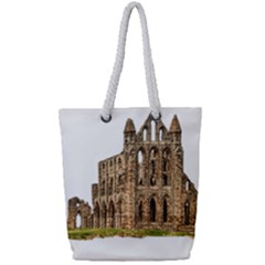 Ruin Monastery Abbey Gothic Whitby Full Print Rope Handle Tote (small) by Sapixe