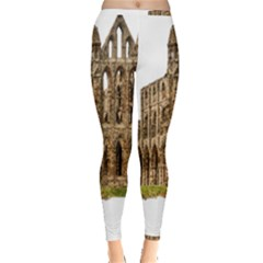 Ruin Monastery Abbey Gothic Whitby Inside Out Leggings by Sapixe
