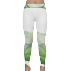 Pearl Drop Flower Plant Classic Yoga Leggings by Sapixe