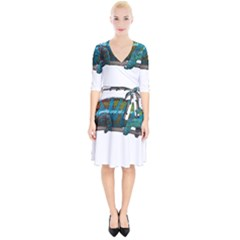 Reptile Lizard Animal Isolated Wrap Up Cocktail Dress