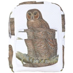Bird Owl Animal Vintage Isolated Full Print Backpack