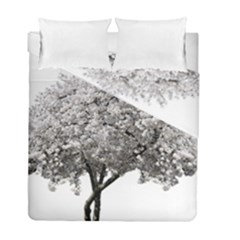 Nature Tree Blossom Bloom Cherry Duvet Cover Double Side (full/ Double Size)