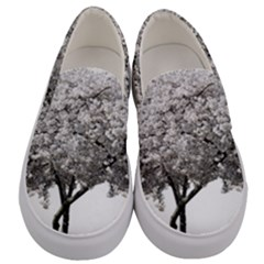 Nature Tree Blossom Bloom Cherry Men s Canvas Slip Ons