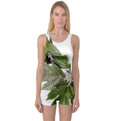 Leaves Plant Branch Nature Foliage One Piece Boyleg Swimsuit by Sapixe