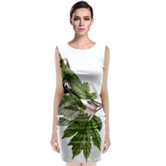 Leaves Plant Branch Nature Foliage Classic Sleeveless Midi Dress by Sapixe