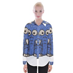 Elephant Animal Cartoon Elephants Womens Long Sleeve Shirt