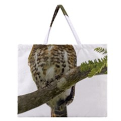 Owl Bird Zipper Large Tote Bag by Sapixe