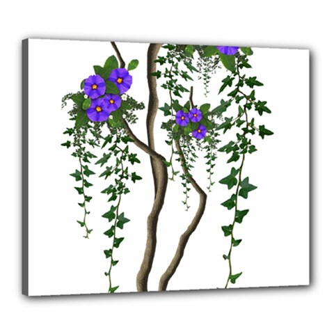 Image Cropped Tree With Flowers Tree Canvas 24  X 20  by Sapixe