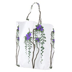 Image Cropped Tree With Flowers Tree Giant Grocery Zipper Tote