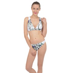 Image Cropped Tree With Flowers Tree Classic Banded Bikini Set