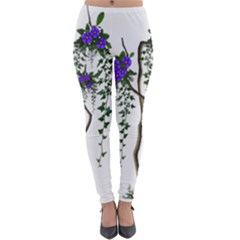 Image Cropped Tree With Flowers Tree Lightweight Velour Leggings