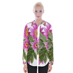 Daisies Flowers Arrangement Summer Womens Long Sleeve Shirt