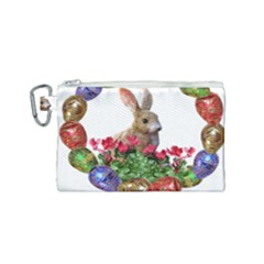 Easter Eggs Rabbit Celebration Canvas Cosmetic Bag (small)