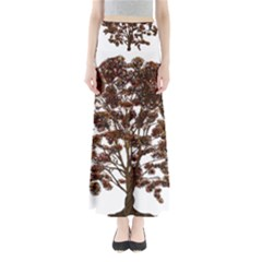 Tree Vector Ornament Color Full Length Maxi Skirt
