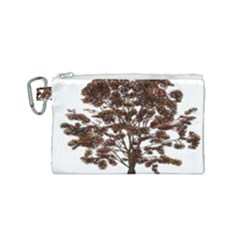 Tree Vector Ornament Color Canvas Cosmetic Bag (small)