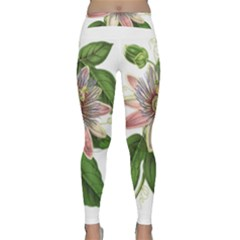 Passion Flower Flower Plant Blossom Classic Yoga Leggings by Sapixe