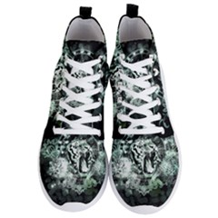 Awesome Tiger In Green And Black Men s Lightweight High Top Sneakers by FantasyWorld7