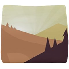 Sky Art Silhouette Panoramic Seat Cushion