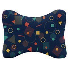 Background Backdrop Geometric Velour Seat Head Rest Cushion by Sapixe
