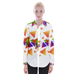 Abstract Pattern Background Design Womens Long Sleeve Shirt