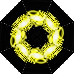 Fractal Swirl Yellow Black Whirl Straight Umbrellas by Sapixe