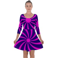 Illustration Abstract Wallpaper Quarter Sleeve Skater Dress