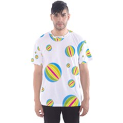 Balloon Ball District Colorful Men s Sports Mesh Tee