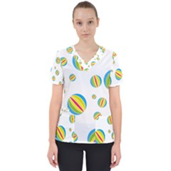 Balloon Ball District Colorful Scrub Top