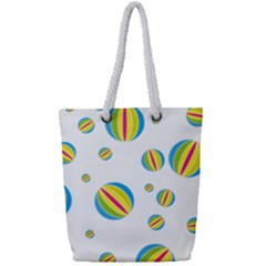 Balloon Ball District Colorful Full Print Rope Handle Tote (small)