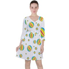 Balloon Ball District Colorful Ruffle Dress