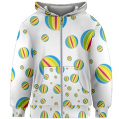 Balloon Ball District Colorful Kids Zipper Hoodie Without Drawstring
