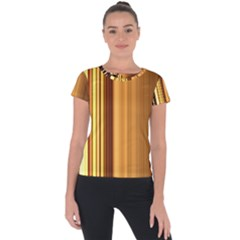 Course Gold Golden Background Short Sleeve Sports Top