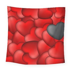 Form Love Pattern Background Square Tapestry (large) by Sapixe