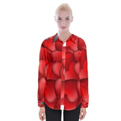 Form Love Pattern Background Womens Long Sleeve Shirt