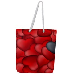 Form Love Pattern Background Full Print Rope Handle Tote (large) by Sapixe