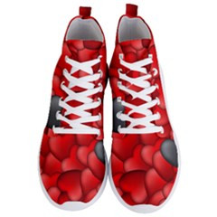 Form Love Pattern Background Men s Lightweight High Top Sneakers