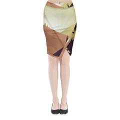 Sky Art Silhouette Panoramic Midi Wrap Pencil Skirt
