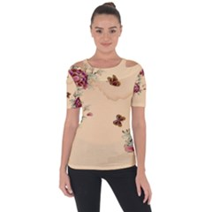 Flower Traditional Chinese Painting Short Sleeve Top