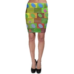 Easter Egg Happy Easter Colorful Bodycon Skirt