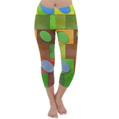 Easter Egg Happy Easter Colorful Capri Winter Leggings
