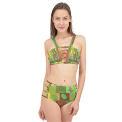 Easter Egg Happy Easter Colorful Cage Up Bikini Set