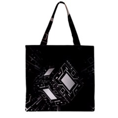 Technoid Future Robot Science Zipper Grocery Tote Bag by Sapixe