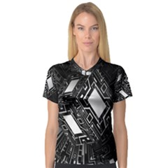 Technoid Future Robot Science V Neck Sport Mesh Tee