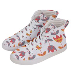 Flowers Men s Hi Top Skate Sneakers by luizavictorya72